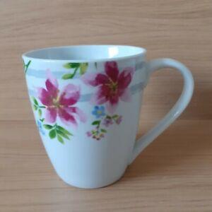 Waterside Bone China Floral Large Mug - Hot Coffee / Tea - Not Boxed