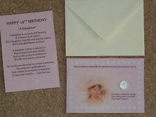 DAUGHTER 18th BIRTHDAY PRESENT GIFT LUCKY SIXPENCE POEM IDEAL KEEPSAKE