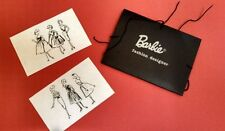 NRFP! Vintage Barbie Reproduction #981 Busy Gal BLACK PORTFOLIO w SKETCHES