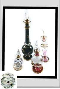 Vintage Handmade Egyptian Perfume Bottle made pre 1995 JCE11 254-11