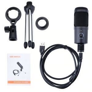 Professional Microphone For Computer And Zoom With Stand And USB