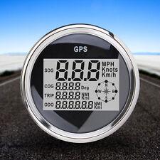 IP67 85MM GPS LCD TACHIMETRO MOTO AUTO MARINO CAMION CONTACHILOMETRI CONTAGIRI