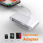 3in1 SD SDHC TF Micro SD CF Card Reader For iphone XS MAX XR X 5 6 7 8 Plus iPad