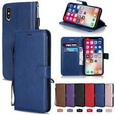 For iPhone 11 Pro Max X XR 8 7 6 SE 2020 Wallet Phone Case PU Leather Flip Cover