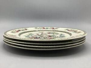 Set of 4 China Dinner Plates  -  Indian Tree  -  Johnson Bros.  -  England