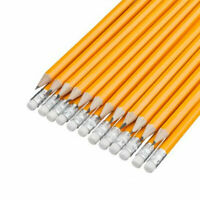 15 x HB Pencils Multi Pack Rubber Eraser Tip Pencil  School Exam Stationary