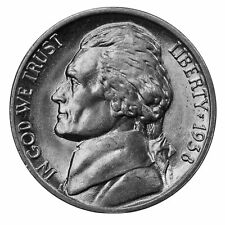 1938 -D Jefferson Nickel - Choice/Gem BU US Coin