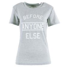 Glamorous Tall Before Anyone Else Motif Tee T Shirt Top Size 10 BNWT* Grey Marl