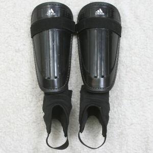 "Adidas Adi Club Black White Soccer Shin Ankle Guards Medium 5'3"" 13 Inches Long"