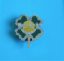 hard rock cafe pin badge St Patrick's Day chain lucky 4 leaf clover Cleveland
