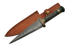 """Celtic Scottish - Genuine Damascus Sgian Skean Dubh Dirk Dagger 14"""" Knife Athame"""