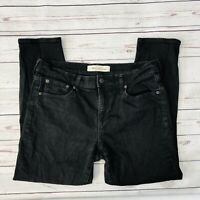 Gap Womens Jeans Best Girlfriend Size 31 Black Stretch Skinny Ankle Crop