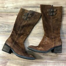 Born Tall Riding Boots Distressed 8M