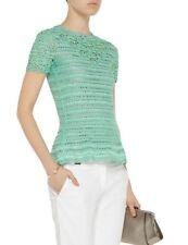 bf8d984bc746 Oscar de La Renta Crochet Hand Knit Top Sweater Dress Blouse SZ M