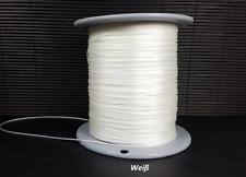 Spannschnur Schnur für Plissee Rollo jalousien 0,8 mm weiß 20 m Cosiflor