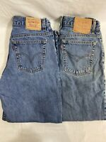 Lot Of 2 Womens Levis 550 Relaxed Fit Taper Leg Jeans Size 12 S