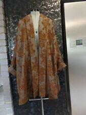 2 14 16 NEW $595 DIGBYS long VELVET FLOCKED khaki olive brown  SWING coat jacket