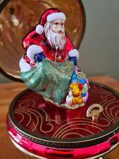 Polonaise Mostowski Faberge Hinged Musical Christmas Ornament Santa W/Toys