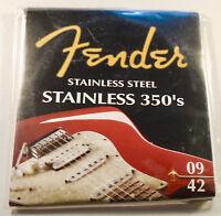1 Jeu de cordes FENDER 350s- 9/42 stainless 0730350003 -toute guitare électrique