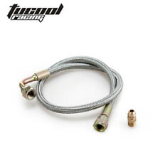 "Braided SS 24"" Oil Line Kit For T3/T4 Turbo Oil Feed Line Kit For Toyota Nissan"