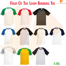 New Unisex Valueweight Short Sleeve Baseball Tee Contrast Raglan Sleeves T-Shirt