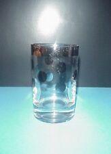 Vintage Dorothy Thorpe Silver Polka Dot Drinking Juice Glass Retro
