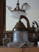 Jugendstil Lampen Glas Antik Lampenglas Wandlampe