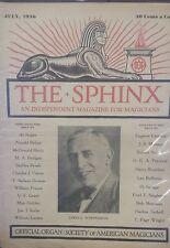 Vintage The Sphinx Issue 1930 James C. Wobensmith