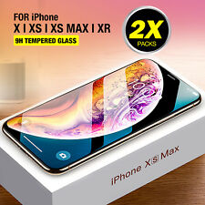 iPhone X XR XS Max 2X Genuine Tempered Glass Screen Protector Film for Apple