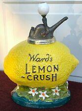 Antique 1920's Ward's Lemon Crush Soda Fountain Syrup Dispenser w/Original Pump