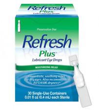 Refresh Plus Lubricant Eye Drops, Single-Use, 30ct