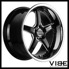 "20"" VERTINI DRIFT BLACK FIVE STAR WHEELS RIMS FITS FORD MUSTANG GT GT500"