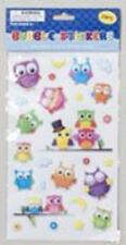 Retro Owl Animal Hippie Kids Birthday Party Favor Scrapbook Bubble Stickers