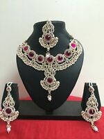 Indian Bollywood Bridal Fashion Jewelry Necklace Set
