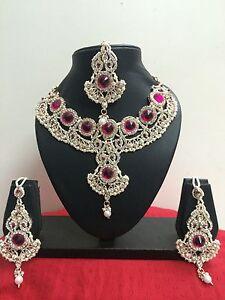 Indian Bollywood Bridal Fashion Jewelry Necklace Set