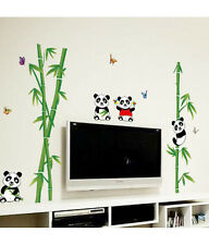 6900019 | Wall Stickers Nursery Kids Room Little Animals Panda on Bamboo Trees