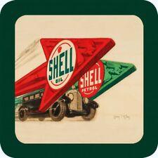 Original Metal Sign Co Melamine Coaster Shell Oil & Petrol Classic Car Advert