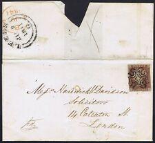 1841 1d Red Black Pl 9 RF Superb LEEDS Maltese Cross on cover Cat. £4000.00