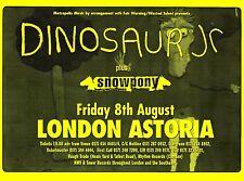 "TOUR POSTER~Dinosaur Jr. Snowpony Live 1997 30x40"" UK London Astoria NOS Rare~"