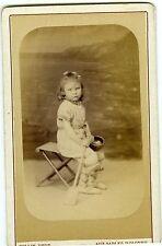 COLLIN Sables d'Olonne Charlotte Poulet pose tenue de plage décor marin 1884 CDV