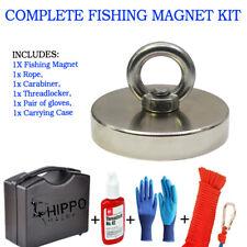 2000 Lbs Pull Force Hippo Fishing Magnet Neodymium Heavy Duty Rope Amp Carabiner