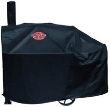 Char-Griller Grill Cover For Smoker Heavy-Duty Black Vinyl Water-Resistant PVC