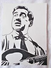 A4 Bolígrafo Marcador De Arte Dibujo Tony Hancock con cartel de instrumento