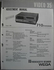SONY Video 35, 710 Chassis, Betamax, Adjustment Manual, Revised August 1982