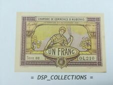 Banknote, Billet - 1 FRANC 1921 UNC,CHAMBRE DE COMMERCE D'AUBENAS / 89-B01