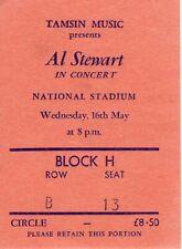 Al Stewart - ORIGINAL Concert Ticket - National Stadium, Dublin - 16th May 1990
