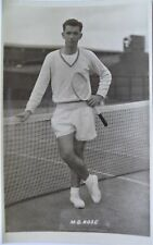ROSE MERVYN 1950's ORIGINAL PHOTOGRAPHIC TENNIS POSTCARD