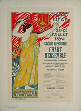 Les Maitres de l'Affiche pl.59 Chant D'Ensembl by Auguste Donnay Original Poster