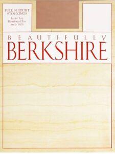 Berkshire Full Support Lycra Leg Reinforced Toe Barely Beige Stockings Size C