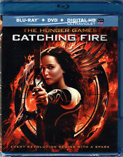 THE HUNGER GAMES in CATCHING FIRE Movie on a 2 BLU-RAY DVD of BOOK Sci-Fi SEQUEL